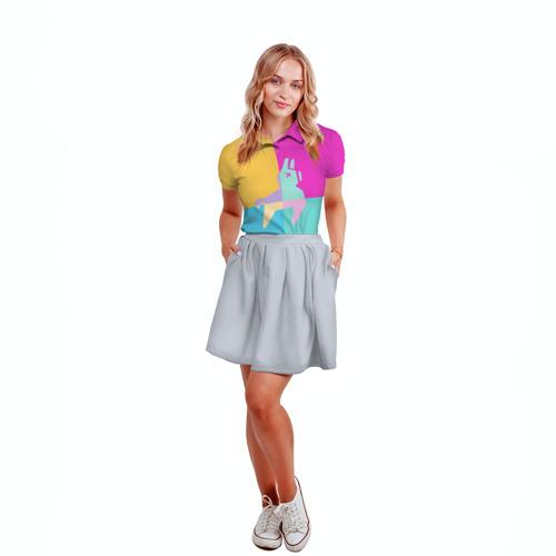 Женская рубашка поло 3D FORNITE LLAMA Фото 01