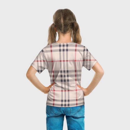 Детская футболка 3D Светлая клетка Фото 01