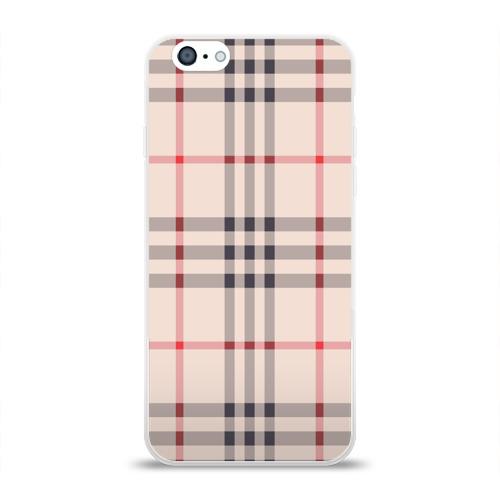 Чехол для Apple iPhone 6 силиконовый глянцевый Светлая клетка Фото 01