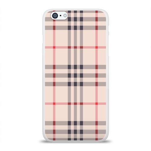 Чехол для Apple iPhone 6Plus/6SPlus силиконовый глянцевый Светлая клетка Фото 01
