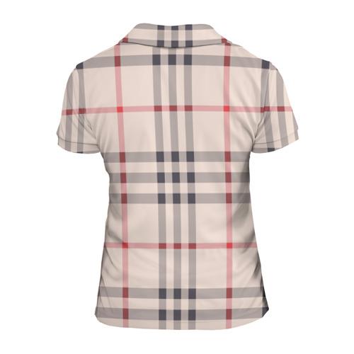 Женская рубашка поло 3D Светлая клетка Фото 01