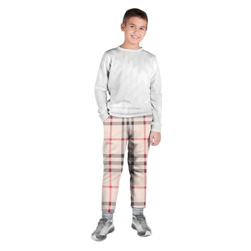 Детские брюки 3D Светлая клетка Фото 01