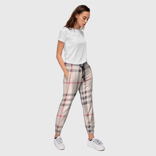 Женские брюки 3D Светлая клетка Фото 01