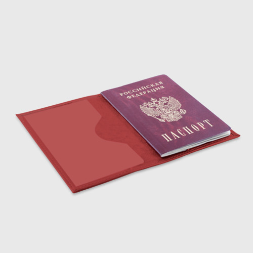 Обложка для паспорта матовая кожа Светлая клетка Фото 01