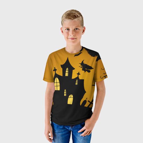 Детская футболка 3D Страшный домик