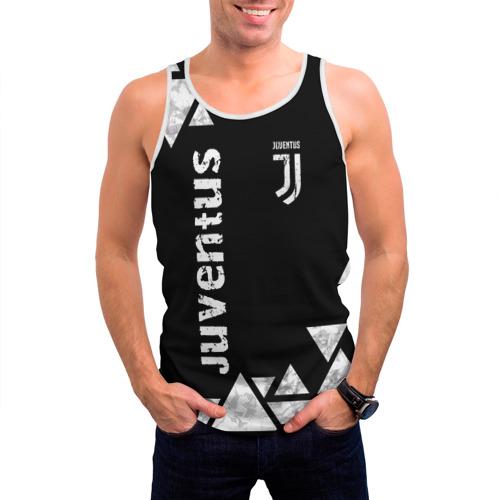 Мужская майка 3D  Фото 03, Juventus Black and White