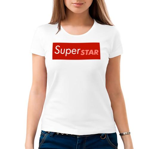Женская футболка хлопок 'Лобода Суперзвезда'