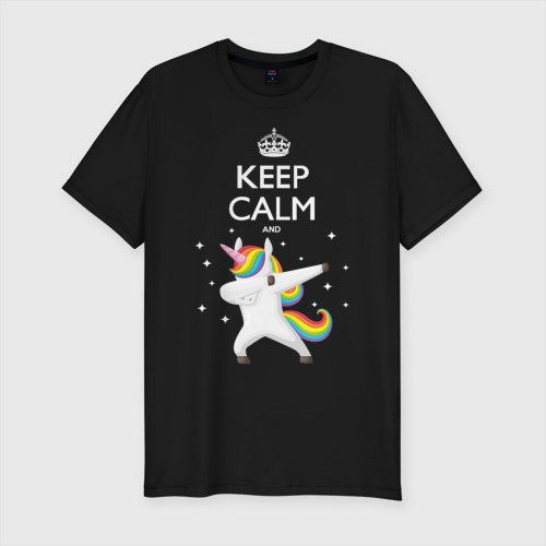 Мужская футболка премиум  Фото 01, Dab unicorn