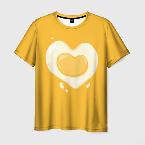 Мужская футболка 3D  Фото 01, Яичница Сердечко