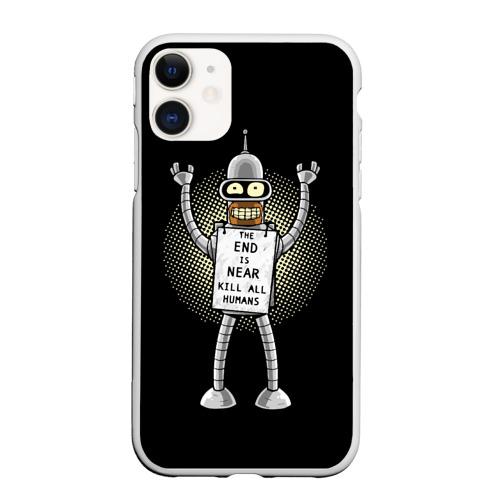 Чехол для iPhone 11 матовый Kill All Humans Фото 01