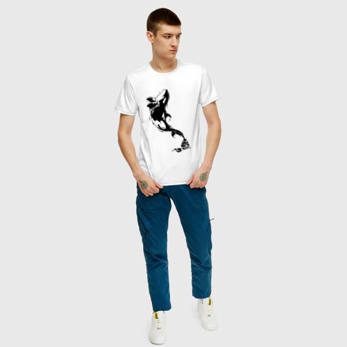 Мужская футболка хлопок Чернильный дельфин Фото 01