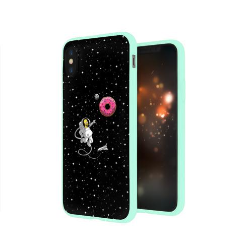Чехол для iPhone X глянцевый Homer Spaceman Фото 01