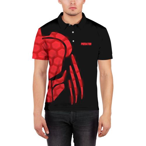 Мужская рубашка поло 3D  Фото 03, Хищник | Predator #
