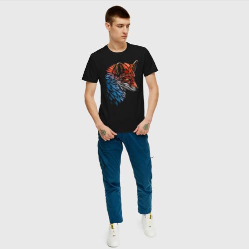 Мужская футболка хлопок Пестрая лисица Фото 01