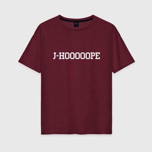 Женская футболка хлопок Oversize J-HOPE BTS Фото 01