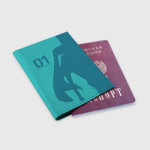 Обложка для паспорта матовая кожа Хацуне Мику 01 Фото 01