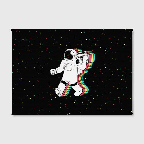 Холст прямоугольный  Фото 02, Космонавт с магнитофоном