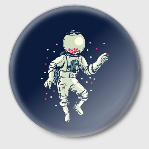 Значок Космонавт и конфеты Фото 01