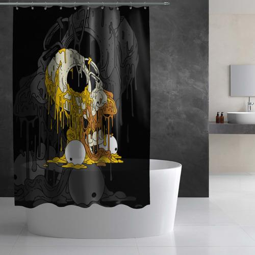 Штора 3D для ванной  Фото 02, Simpsons Halloween