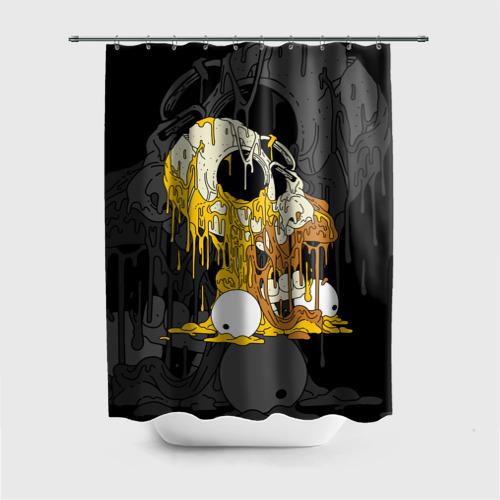 Штора 3D для ванной  Фото 01, Simpsons Halloween