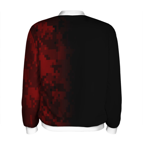 Мужской бомбер 3D  Фото 02, SUPREME MILITARY BLACK RED