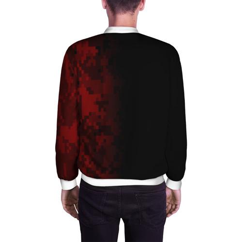 Мужской бомбер 3D  Фото 04, SUPREME MILITARY BLACK RED