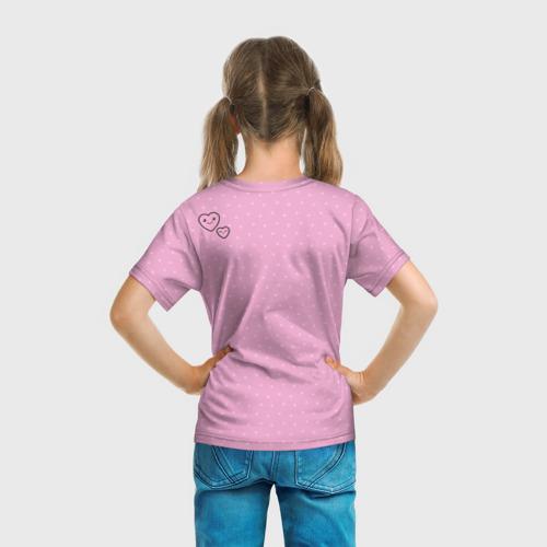 Детская футболка 3D  Фото 04, Розовая зайка