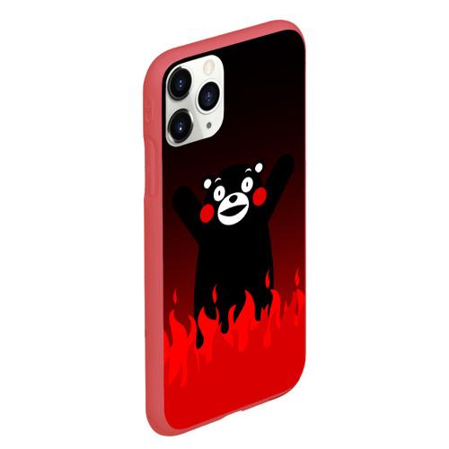 Чехол для iPhone 11 Pro Max матовый Kumamon горит Фото 01