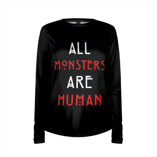 Женский лонгслив 3D для беременных  Фото 03, All Monsters Are Human