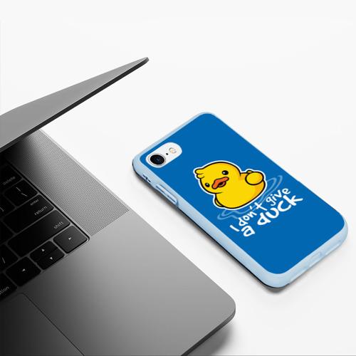 Чехол для iPhone 7/8 матовый I Don't Give a Duck Фото 01