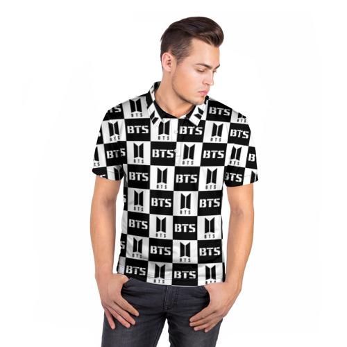 Мужская рубашка поло 3D BTS PATTERN Фото 01