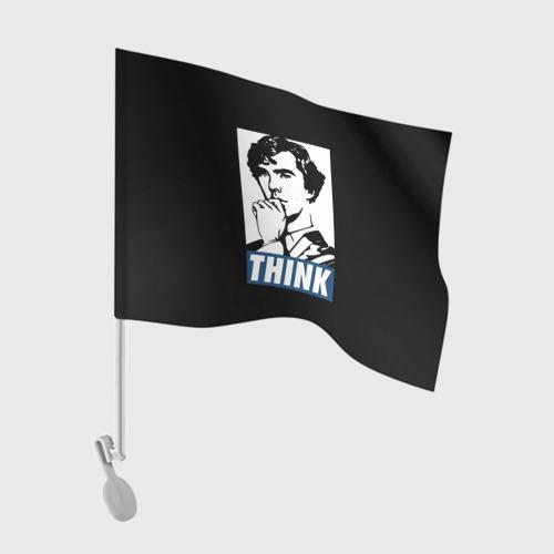 Флаг для автомобиля Think Фото 01