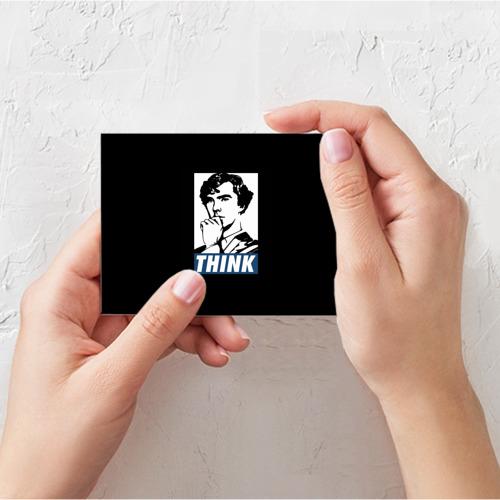 Поздравительная открытка Think Фото 01