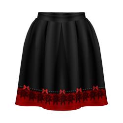 Кружево черно-красное