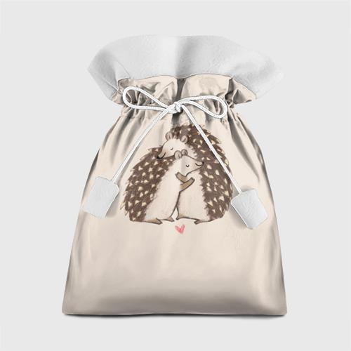 Подарочный 3D мешок Любовь Ежиков