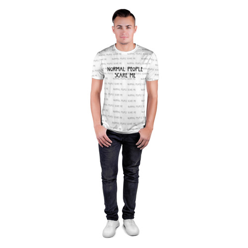Мужская футболка 3D спортивная NORMAL PEOPLE SCARE ME Фото 01
