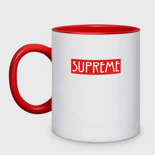 """Кружка двухцветная \""""SUPREME\"""" AHS"""