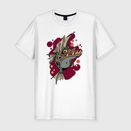 Мужская футболка премиум  Фото 01, Страшная Рыба
