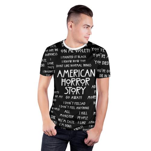 Мужская футболка 3D спортивная  Фото 03, AHS