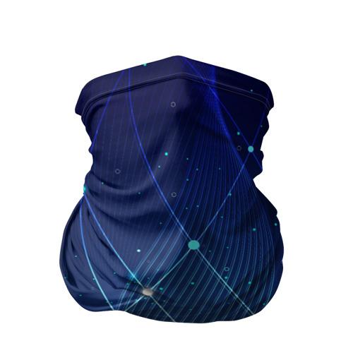 Бандана-труба 3D Синяя спираль абстракция Фото 01