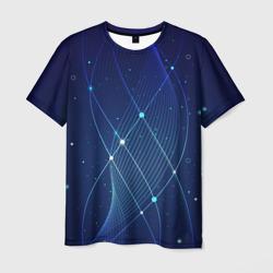 Синяя спираль абстракция