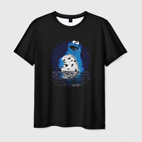 Мужская футболка 3D Cookie monster