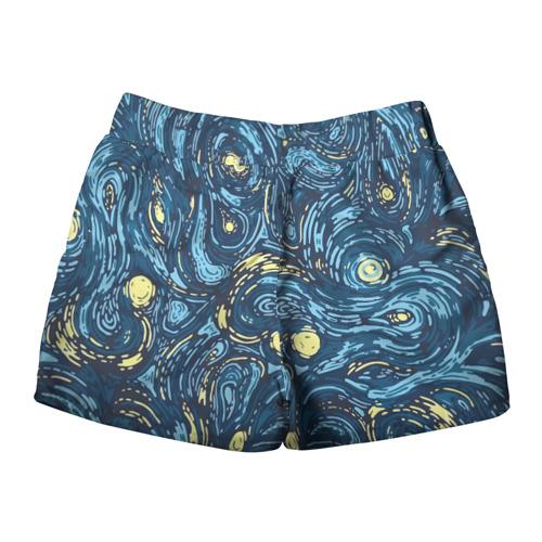 Женские шорты 3D  Фото 02, Ван Гог. Звездная Ночь