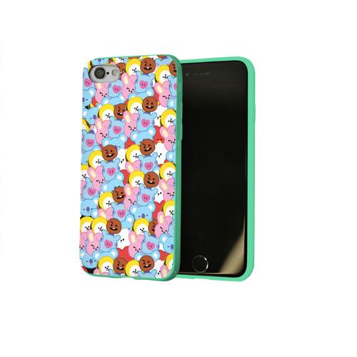 Чехол для Apple iPhone 8 силиконовый глянцевый BTS BT21 STICKERS Фото 01