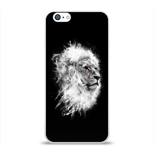 Чехол для Apple iPhone 6 силиконовый глянцевый  Фото 01, Лев со Шрамом