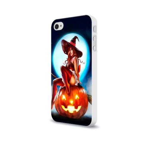 Чехол для Apple iPhone 4/4S soft-touch  Фото 03, Ведьма на тыкве