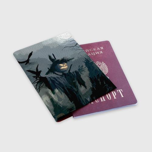 Обложка для паспорта матовая кожа Halloween Фото 01