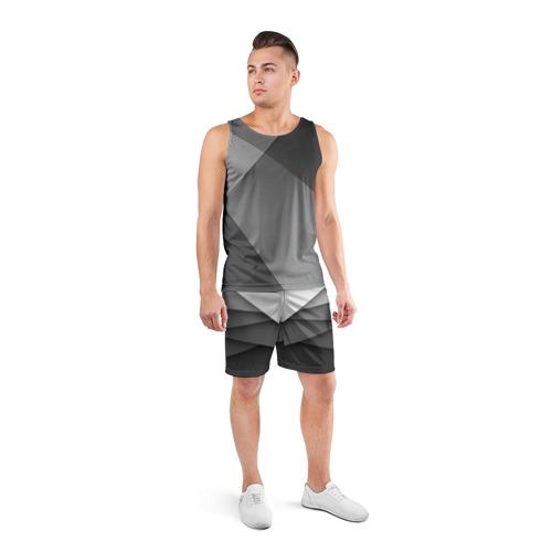 Мужские шорты спортивные Бумажные полосы Фото 01