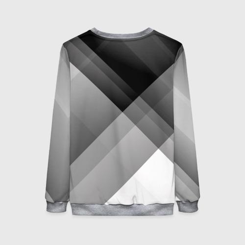 Женский свитшот 3D Геометрия (серый) Фото 01