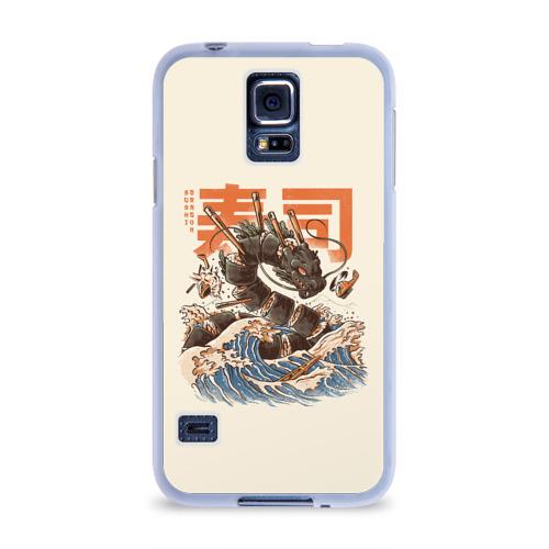 Чехол для Samsung Galaxy S5 силиконовый  Фото 01, Great Sushi Dragon